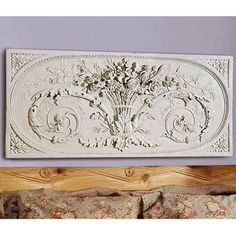Design Toscano Le Bouquet Grand Sculptural Wall Frieze in Antique Stone - - Wall Art & Coverings - Decor Outdoor Wall Art, Outdoor Walls, Outdoor Decor, Wall Decals, Wall Décor, Diy Wall, Wall Decor Online, Medallion Wall Decor, Bouquet