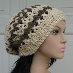Cream Barley Dread Tam Hippie Hat Slouchy by PurpleSageDesignz, $20.00