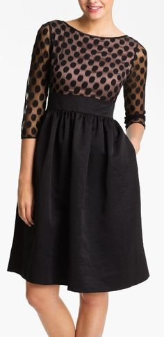 A polka dot twist on the the little black dress