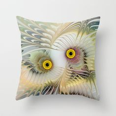 Abstract Owl Throw Pillow by Klara Acel