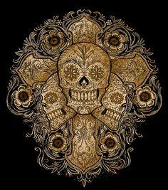 """""""Muerte Cross Skull"""" for Lucky Brand by Ben Kwok at Coroflot.com"""