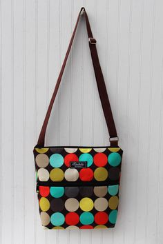 Jordyn Sling Hip Bag in Disco Dot Clementine by ElisaLou on Etsy