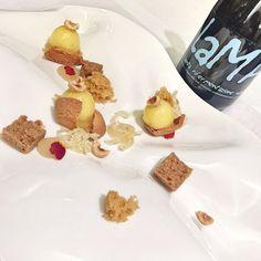 La nocciola la birra @soralama e il limone... Il #dessert di #giuseppecrimi a #cucinaconocciole #villadamelia
