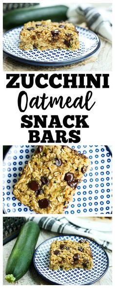 Zucchini Oatmeal Snack Bars Recipe | zucchini recipes | zucchini cake | healthy snack recipe | gluten-free recipe |