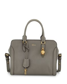 Small+Skull+Padlock+Leather+Satchel,+Dark+Gray+by+Alexander+McQueen+at+Neiman+Marcus.