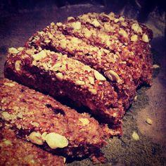 Raw Organic Sweet Raisin/Nut Loaf  #rawfood #rawvegan