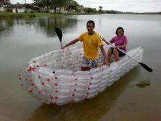 Homemade Plastic Bottle Boat