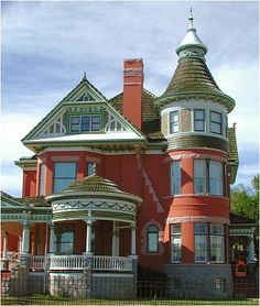 I have always wanted to have an old victorian house with a three-story turret; dining room on the first floor, library on the second floor and sitting room (as part of a bedroom suite) on the third floor.