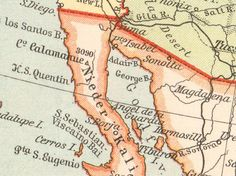 Old Maps Mexico United States Usa Antiques Prints Vintage