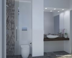 Old mood bathroom - small bathroom in Catania Design arch Alessandro Frasson marca corona tiles terra on wall and cerim memory on the floor