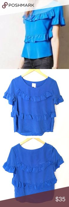Shop Women's Anthropologie size L Blouses at a discounted price at Poshmark. Description: New with half tag on it Anthropologie HD in Paris Silk Ruffle Blouse Top Women's Size Large. Twist Outs, Fashion Design, Fashion Tips, Fashion Trends, Anthropologie, Ruffle Blouse, Blouses, Paris, Silk