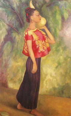 mujer de tehuantepec, Rivera; 1950