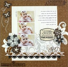 Treasure Divine #Scrapbooking Layout Idea from Creative Memories    http://www.creativememories.com
