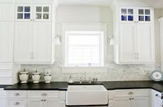 kitchen pulls for cabinets arctic snow quartz countertops calacatta marble mosaic 21959