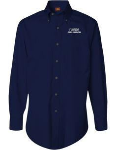 Florida Air National Guard Harriton Mens Easy Blend™ Long Sleeve Twill Shirt With Stain Release   KART KONG