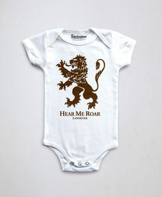 House Lannister Baby Onesie Game Of Thrones Onesie by store365 Φορμάκια d3b8a1b03d6