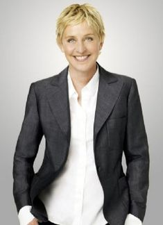 Ellen DeGeneres--say what you want, I can spot a good heart when I see one. She makes me laugh, and she makes me cry. She's a good person and I would like to meet her one day.