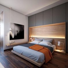 This is a Bedroom Interior Design Ideas. House is a private bedroom and is usually hidden from our guests. Much of our bedroom … Bed Design, House Design, Design Case, Elegant Bedroom Design, Design Bedroom, Luxury Home Decor, Minimalist Bedroom, Minimalist Decor, Apartment Interior