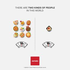 """Zomato is a website dedicated to food lovers everywhere. They have created an illustrative series about some of the very common distinctions people make about themselves when having to decide between two choices of common food.      We all know that people are not as simple as these infographs make us out to be, but it's interesting to go through and think about what side of the picture you would personally fall on! So with that said...""""There Are Two Kinds Of People In This World,"""" find…"""