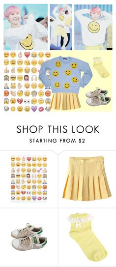 """""""Smiley - Woozi (Seventeen)"""" by woozikitten ❤ liked on Polyvore featuring adidas, Oasis, Whitehorse Couture, kpop, seventeen, kpopinspired and woozi"""