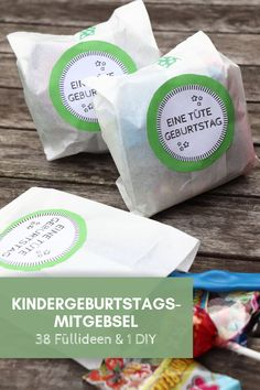 Kindergeburtstag: Mitgebsel-Ideen Children's birthday: Giveaway ideas for the Giveaway bags and a DIY idea for the Giveaway bags. Children's birthday gift bags are part of the children's birthday. Food Gifts For Men, Diy Food Gifts, Jar Gifts, Birthday Gift Bags, Birthday Gifts For Kids, Diy Birthday, 5 Senses Gift, Diy Y Manualidades, Diy Snacks