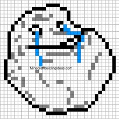 Minecraft Pixel Art Templates: Forever Alone face