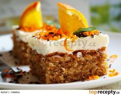 Vynikající mrkvové řezy A Food, Food And Drink, Vanille Paste, Piece Of Cakes, Sweet Cakes, Carrot Cake, Baked Goods, Sweet Recipes, Cheesecake