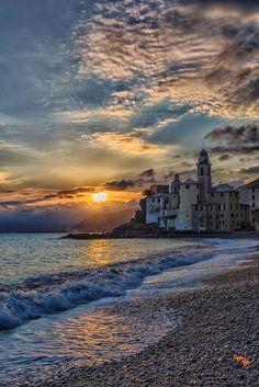 Camogli, Liguria, Italy by Massimo Camogli is a small Italian fishing village and tourist resort located on the west side of the peninsula of Portofino, on the Golfo Paradiso at the Riviera di Levante, in the province of Genoa on the Italian Riviera. #travel #architecture #photo #image #city