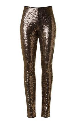 All That Glitters | Bronze sequin leggings
