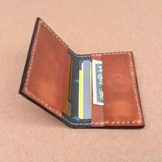Pocket Wallet - hand made from full grain, high quality leather.  Organically infused for weather and durability.  A wonderful Christmas gift for him.-SR