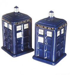 Doctor Who #Tardis Salt And Pepper Shakers xoxo #drwho