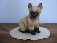 Vintage Siamese Cat Planter by jessamyjay on Etsy