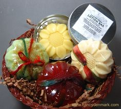 4 Piece Sunflower Soap & Lotion Bar Assortment by Nancy Denmark Makes a great #gift!