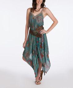 Rancho Estancia Green Sun  n Soul Handkerchief Dress - Women 910c8155a