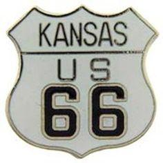"""Kansas Route 66 Pin 1"""""""