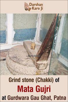 Grind stone (Chakki) of Mata Gujri at Gurdwara Gau Ghat, Patna Share & Spread the divinity! Sikh Quotes, Gurbani Quotes, Indian Quotes, Guru Granth Sahib Quotes, Sri Guru Granth Sahib, Guru Nanak Ji, Nanak Dev Ji, Guru Nanak Wallpaper, Guru Gobind Singh