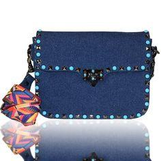 9a6697667 Embellished Bags are the hottest trend of the season. Denim Shoulder  BagsStudded ...