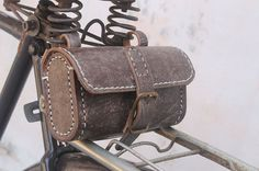Handmade bicycle leather toolsbag/saddle by klemensandco on Etsy