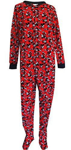 ddfcbe81ccfb Disney Women's Ladies One Piece Pajama Mickey Plus, Red, 1X. Onesie PajamasPajama  ...