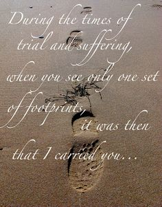 Life Through Reflections...: Footprints In The Sand.