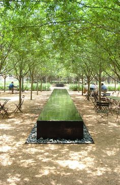 Barraganesque strip water basin:
