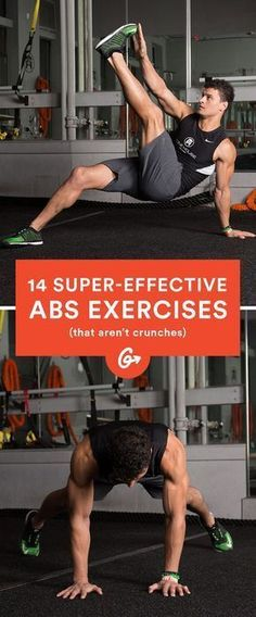 These will totally change the way you think about exercising your core. move/abs-workout-unexpected-moves-that-work-better-than-crunches Fitness Workouts, Sport Fitness, At Home Workouts, Fitness Motivation, Health Fitness, Workout Exercises, Workout Tips, Workout Men, Workout Routines