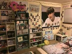 I Want This Room Only Jungkook Themed Jesusss Army Room inside Bts Room Decor Army Room Decor, Room Decor Bedroom, Music Bedroom, Army Bedroom, Bts Merch, Room Goals, Room Tour, Home And Deco, Dream Rooms