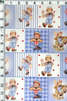 Raggedy Ann and Andy Faux Patchwork Baby Kids by Fabrics4Kids, $3.50