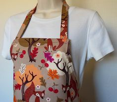 Full Apron  Autumn Woodland by BonniesSewCrazy on Etsy, $12.00