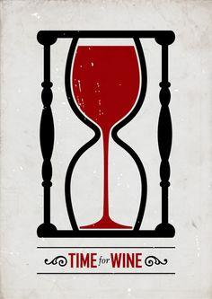 """""""Time For Wine"""" poster design by Swedish graphic designer Viktor Hertz"""