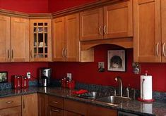 Red kitchen walls - ??? not sure but has me thinking about some color!