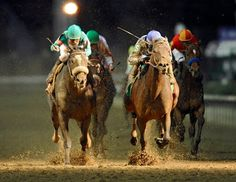 2010 Breeders Cup Classic at Churchill Downs. Most heart breaking defeat Ive ever seen. Blame headed Zenyatta at the wire by the bob of a head after the mare came from 20+ lengths behind the field. So.. Man O War had Upset as Zenyatta has Blame. Fitting.