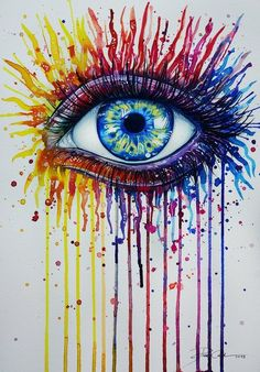 amazing colorful eye drawing!  Great idea for my next canvas crayon project :)