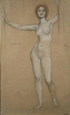 Herbert James Draper - Aurora - Study for the Gates of Dawn